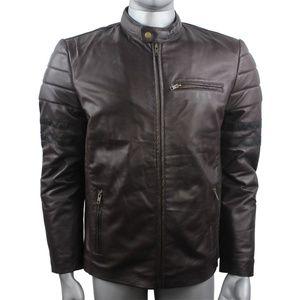men leather jacket biker leather jacket